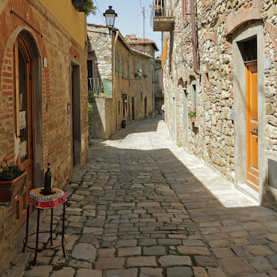 Street in Montefioralle, Tuscany